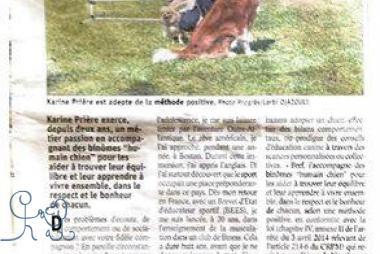 Et un article très bien rédigé dans Le Progrès...